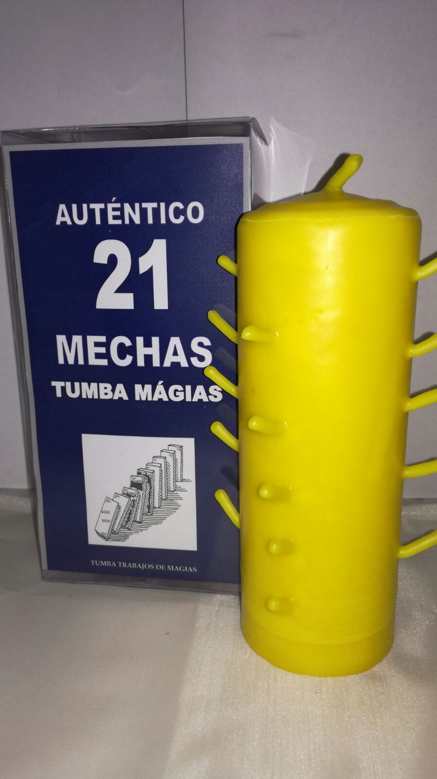 AUTENTICO VELON 21 MECHAS AMARILLO