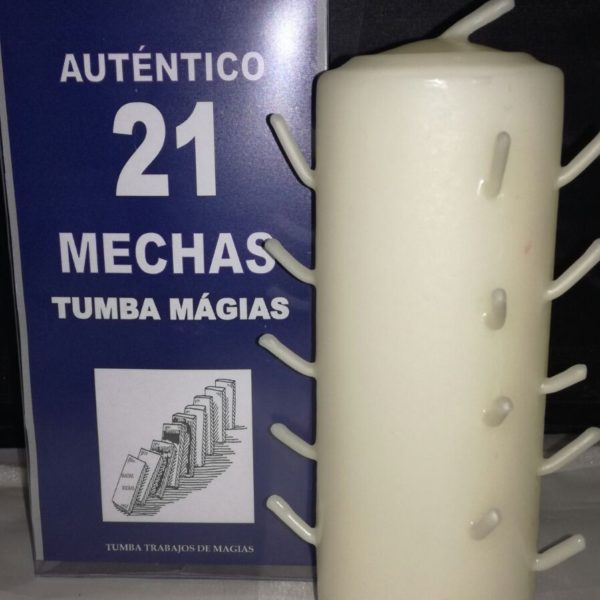 AUTENTICO VELON 21 MECHAS BLANCO
